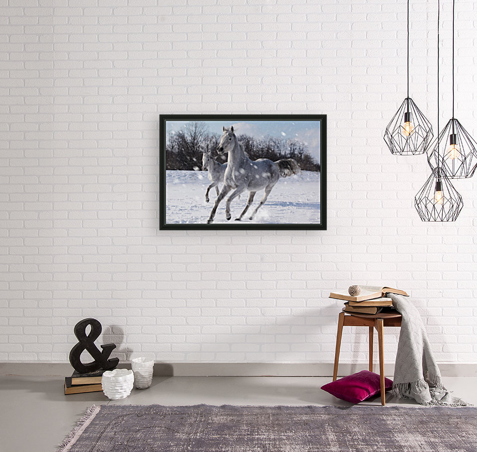 Horses in the Snow  Art