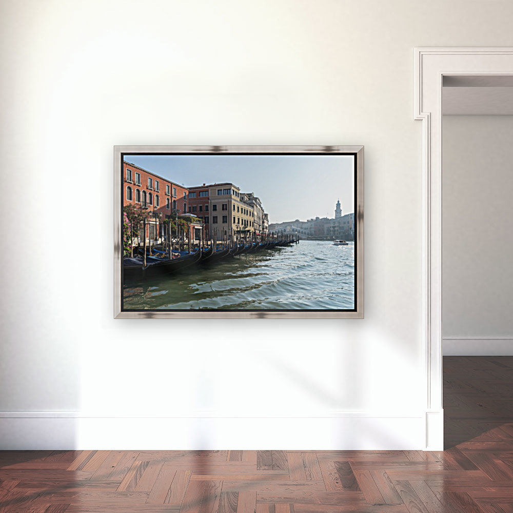 Classic Venetian - Glossy Gondolas And Ripples On The Grand Canal  Art
