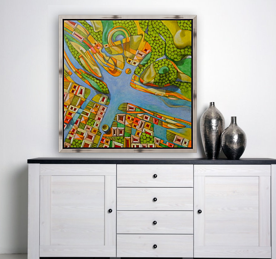 imaginary map of turin  Art