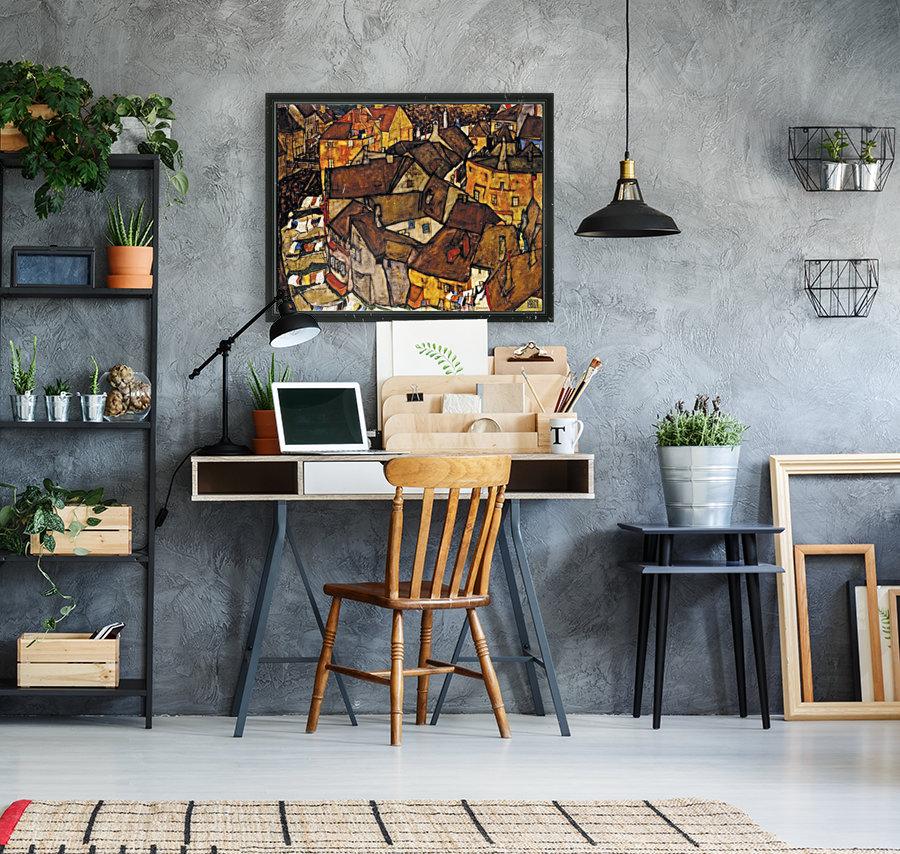 Egon Schiele - Crescent of Houses  Art