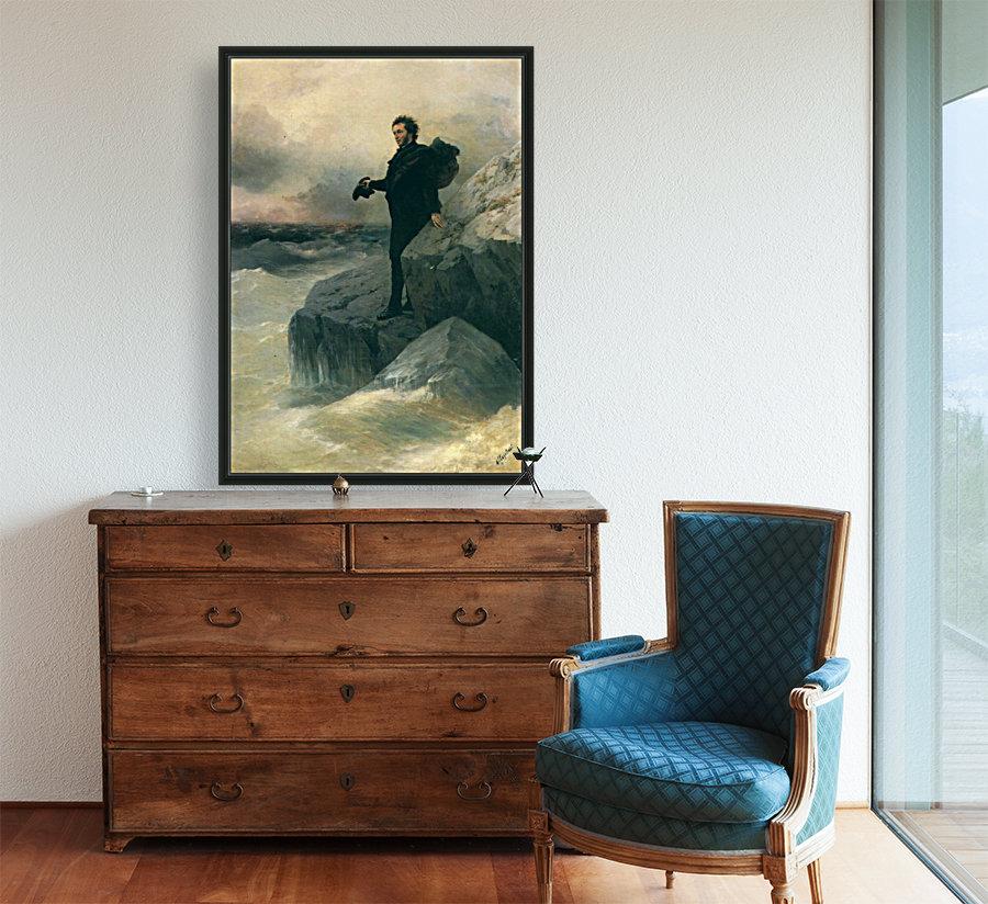 Pushkin and the sea  Art