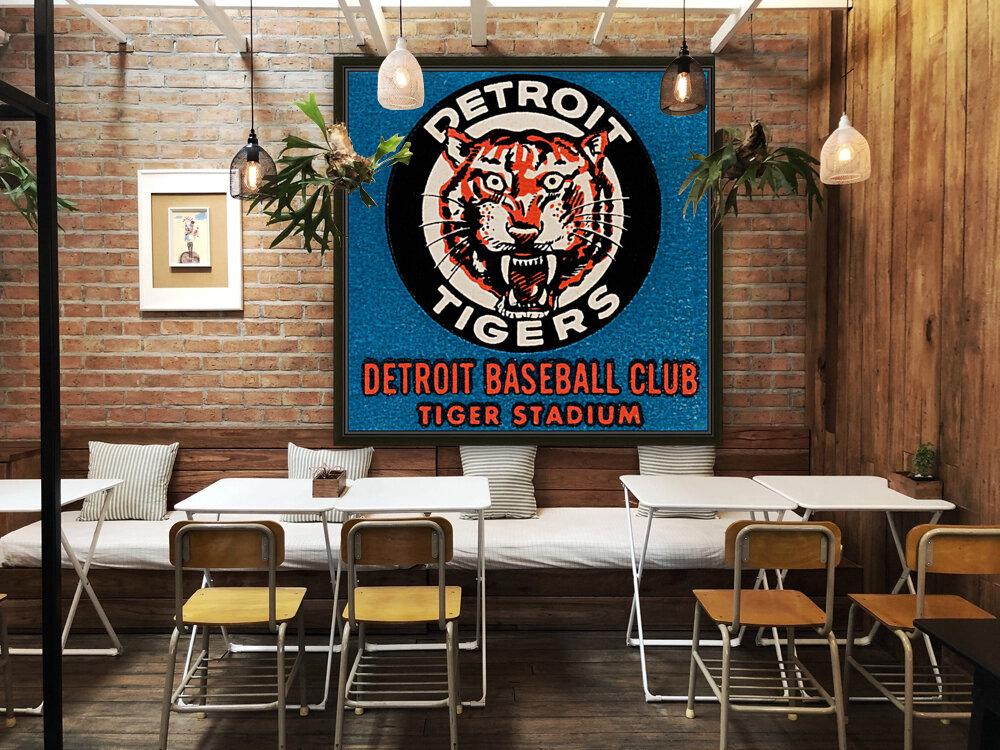 1963 Detroit Tigers Vintage Baseball Club  Art