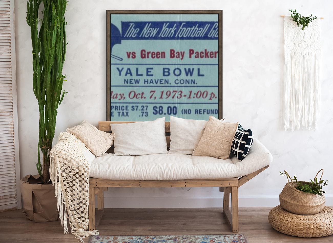 1973_National Football League_New York Giants vs. Green Bay Packers_Yale Bowl_Row One  Art