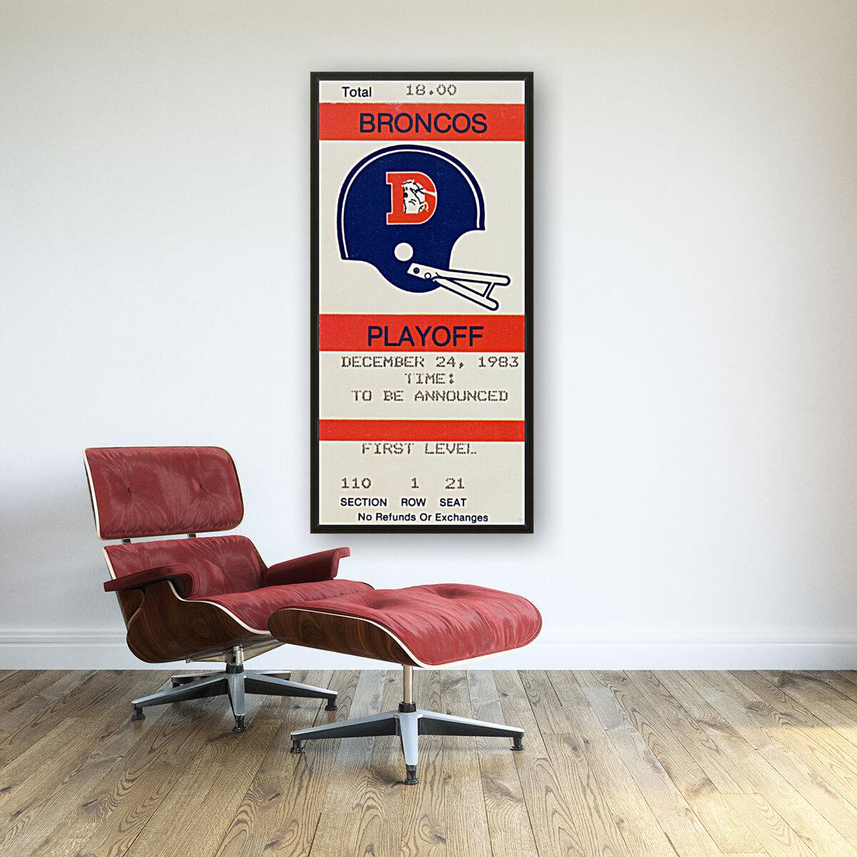 1983 Denver Broncos Football Ticket Stub   Art