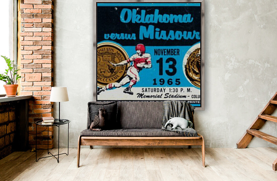 1965_College_Football_Oklahoma vs. Missouri_Memorial Stadium_Columbia_Row One  Art