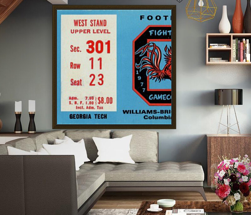 1977_College_Football_Georgia Tech vs. South Carolina_Williams Brice Stadium_Row One Brand  Art
