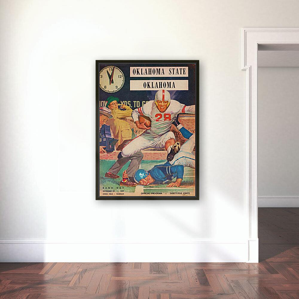 1959_College_Football_Oklahoma State vs. Oklahoma_Owen Field_Norman_Row One Brand  Art