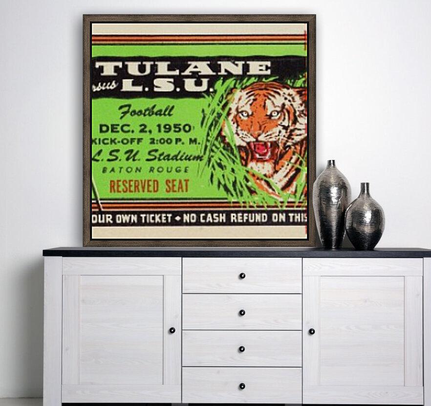 1950_College_Football_Tulane vs. LSU_Tiger Stadium_Baton Rouge_Row One Brand  Art
