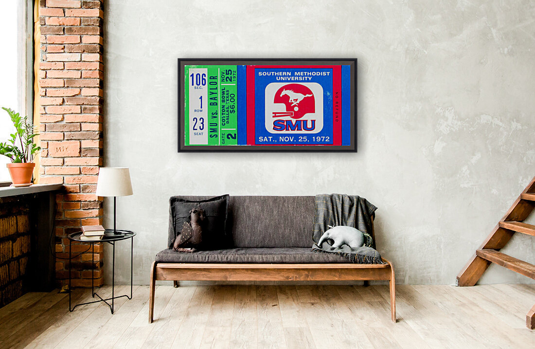 1972_College_Football_Baylor vs. SMU_Cotton Bowl Stadium_Dallas_Row One Brand  Art