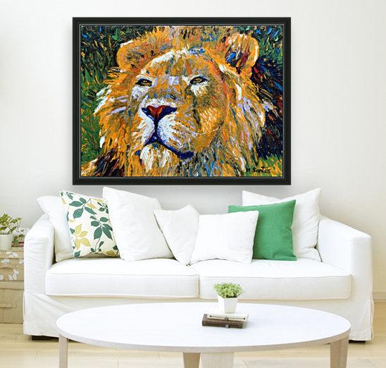 Lion Closeup  Art