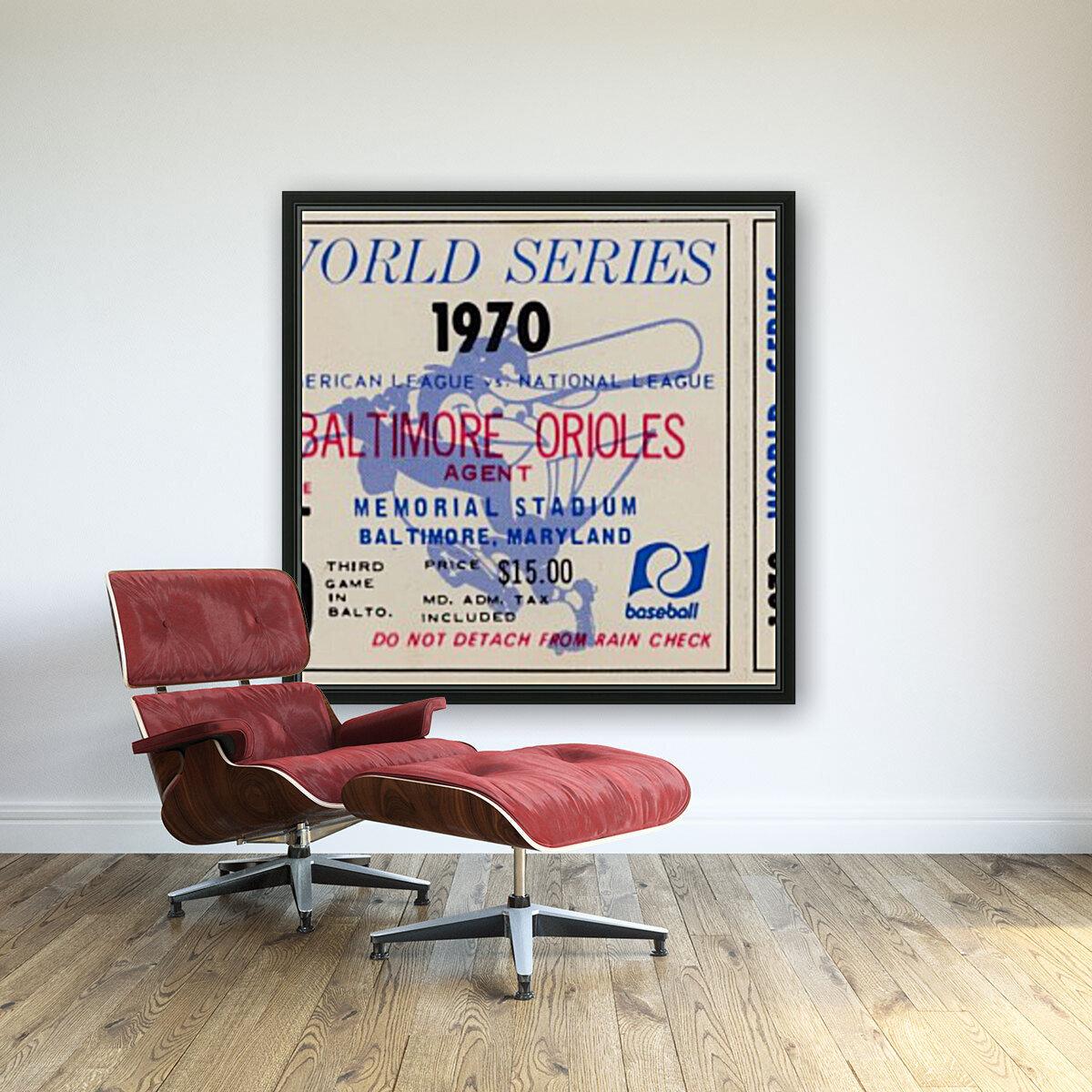 1970_Major League Baseball_World Series_Baltimore Orioles vs. Cincinnati Reds_Memorial Stadium_Row 1  Art