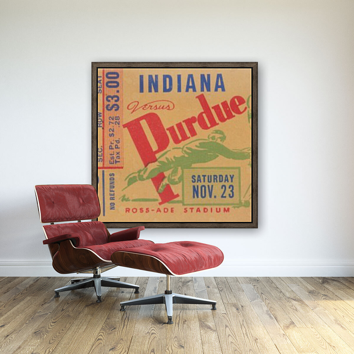 1940 Indiana vs. Purdue  with Floating Frame