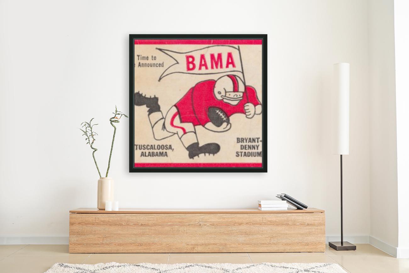 1980 Bama Football Player Flag Art_Tuscaloosa Alabama_Bryant Denny Stadium_Ticket Stub Art Creations  Art