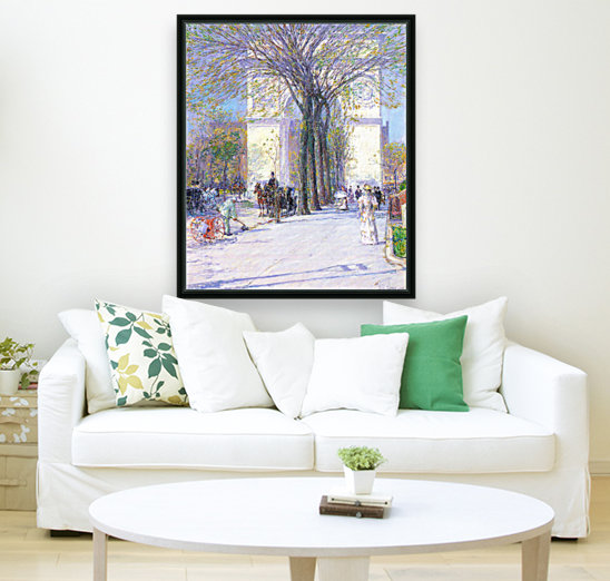Washington triumphal arch in spring by Hassam  Art
