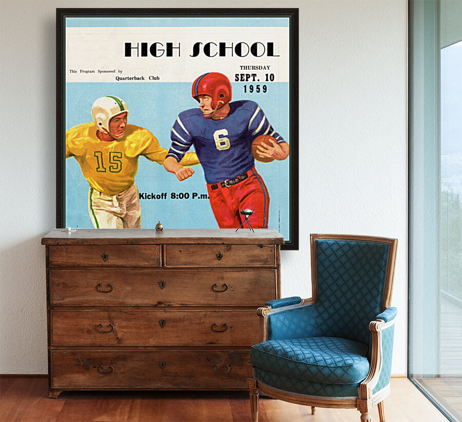 1959 High School Football with Floating Frame