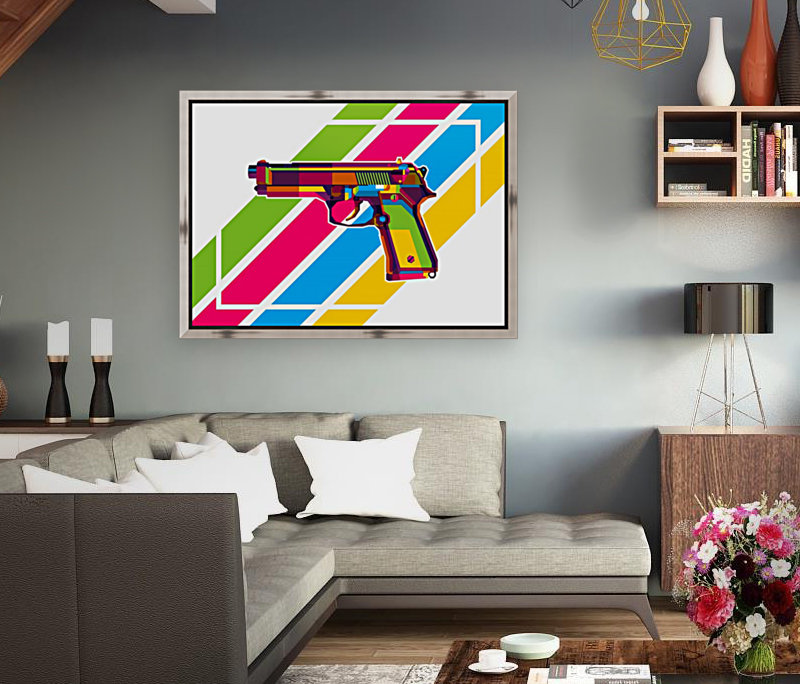 Classic Handgun with Floating Frame