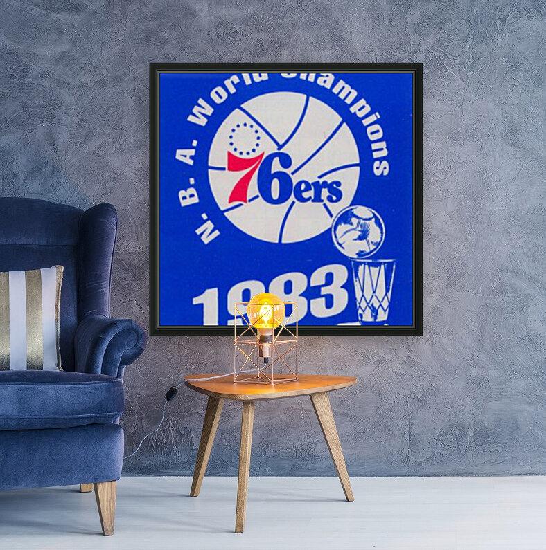 1983 NBA World Champions Philadelphia 76ers Art Reproduction 1  Art