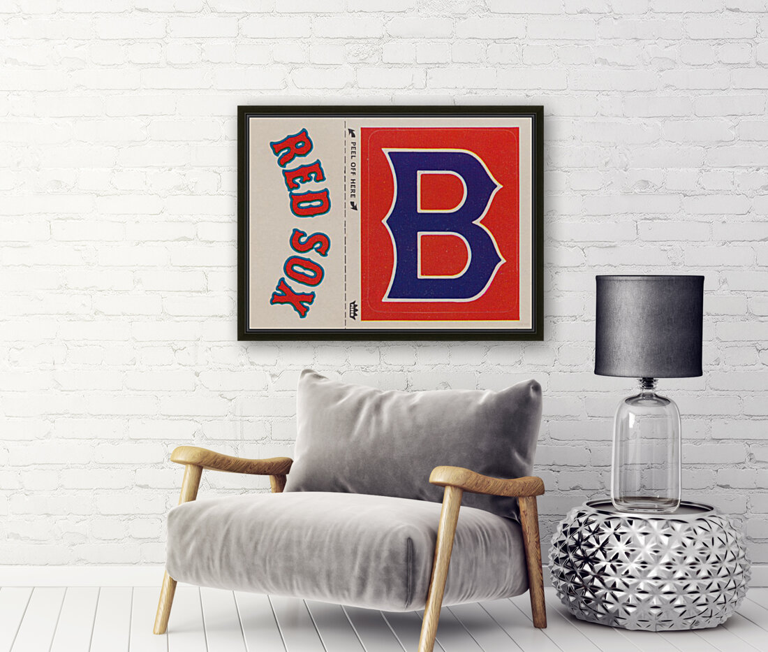 1978 Boston Red Sox Fleer Decal Reproduction 1200 DPI Scan Art by Row One™  Art