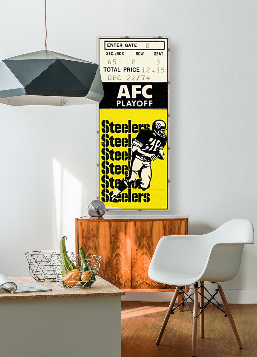 1974 Pro Football Season_AFC Playoff_Pittsburgh Steelers vs. Buffalo Bills_NFL Ticket Stub Art  Art