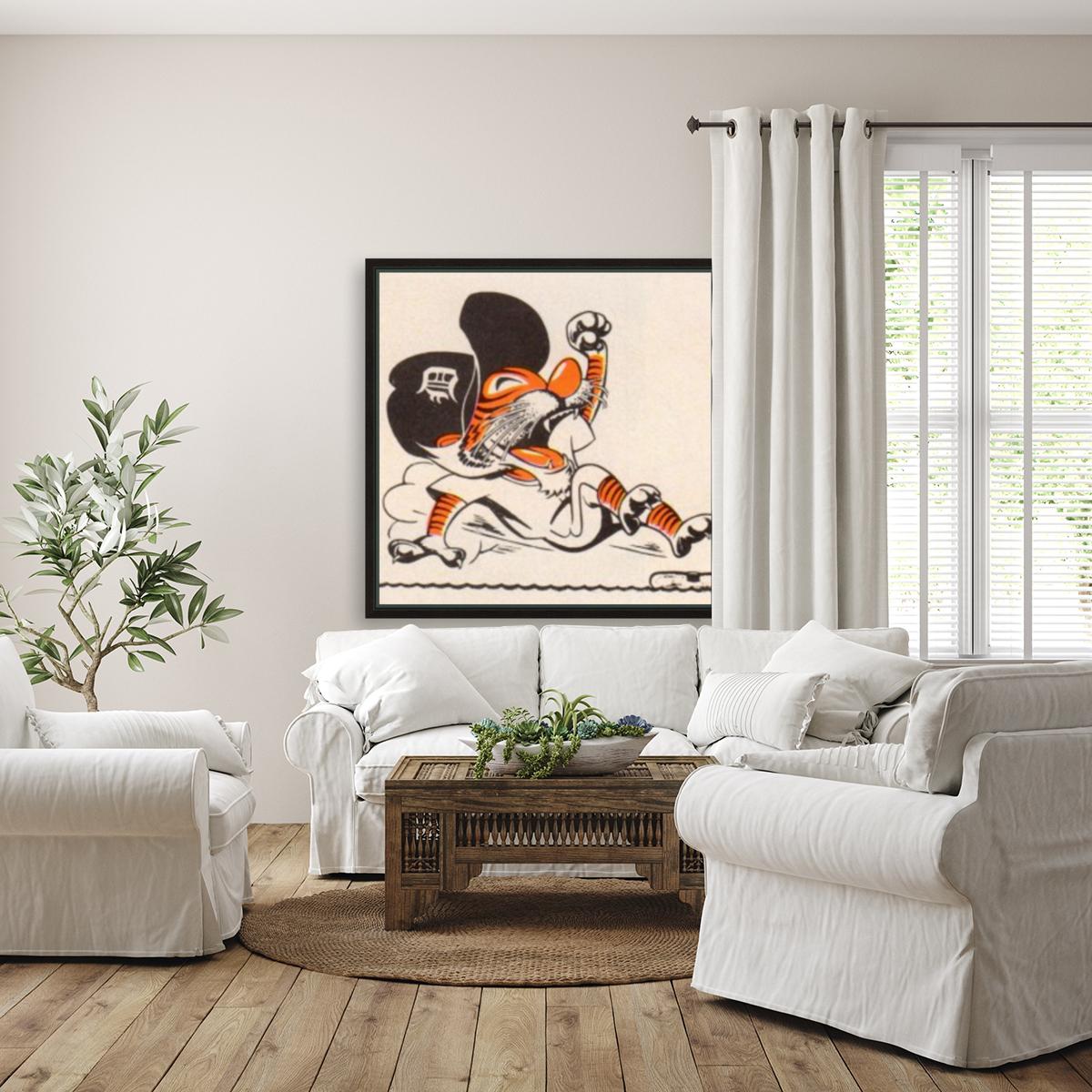 1971_Major League Baseball_Detroit Tigers_Best Sports Cartoons  Art