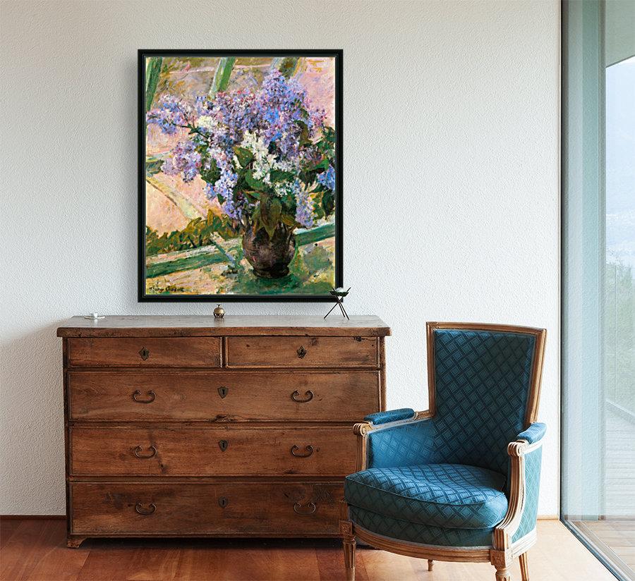 Flowers in the window by Cassatt  Art
