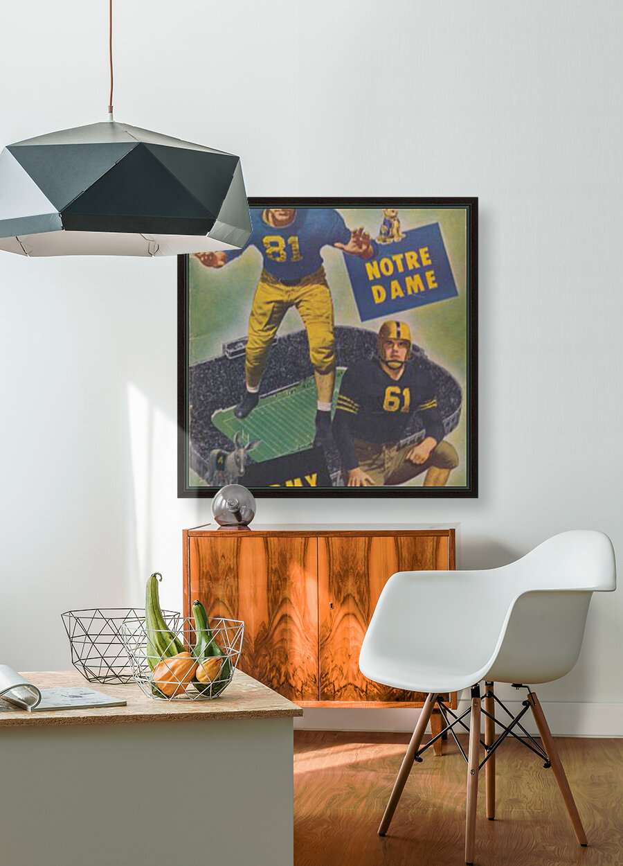 1947 Army vs. Notre Dame Football Program Cover Art_Vintage College Football Program (1)  Art