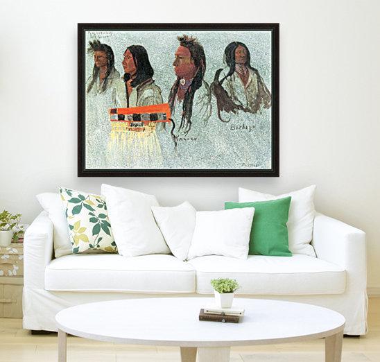 Four Indians by Bierstadt  Art