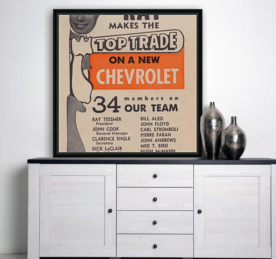jefferson chevrolet detroit michigan car dealer auto sales ad vintage automobile sales advertising  Art