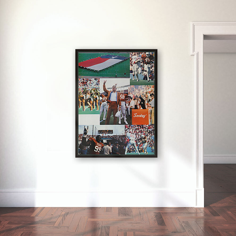 Texas Longhorns Football Poster_Texas Longhorn College Football Photo Collage  Art