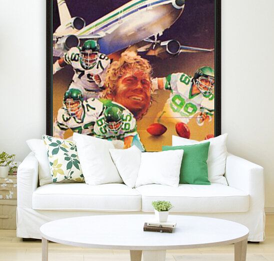 vintage new york jets poster art artist george zebot row one brand sports posters  Art