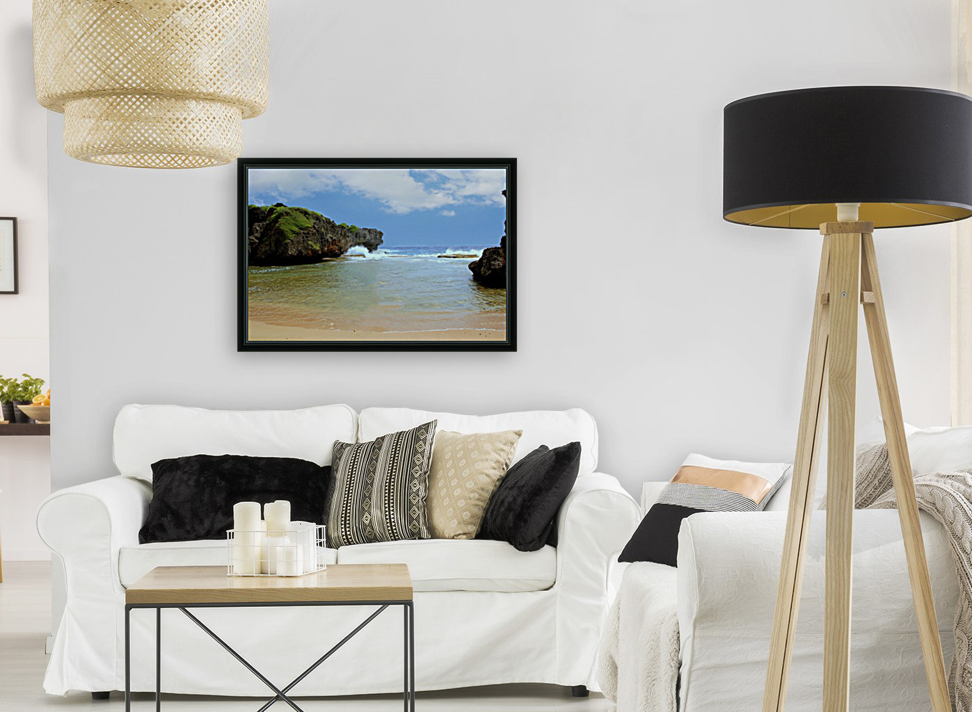 Hidden Beach with Floating Frame