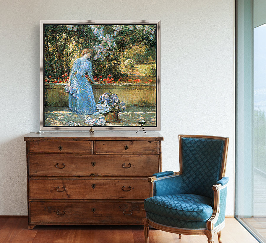 Woman in park by Hassam  Art
