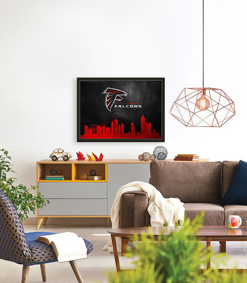 Atlanta Falcons with Floating Frame