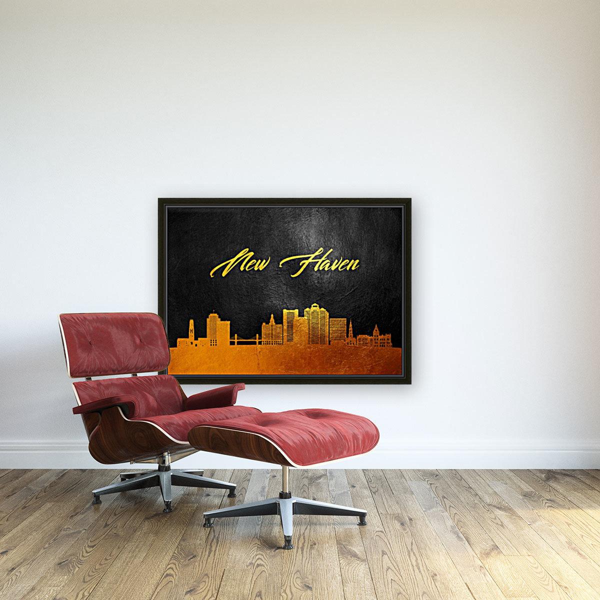 New Haven Connecticut Skyline Wall Art  Art
