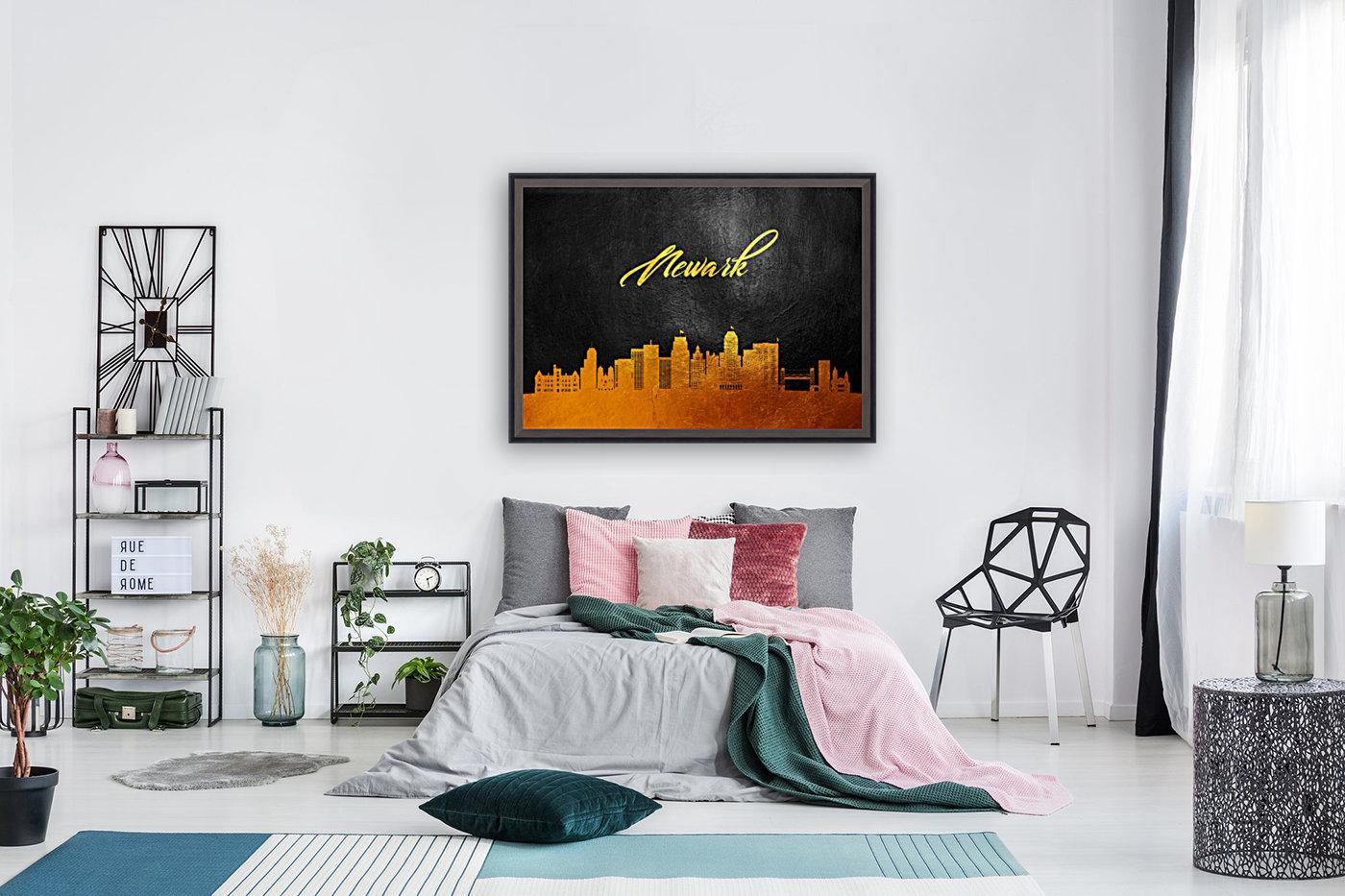 Newark New Jersey Skyline Wall Art  Art