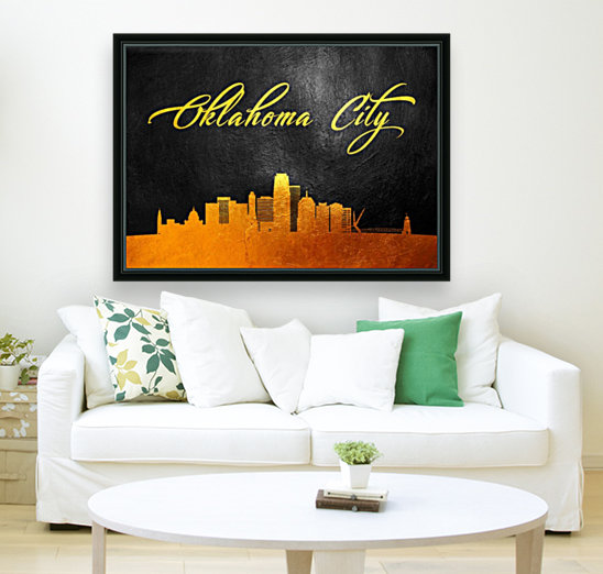 Oklahoma City Oklahoma Skyline Wall Art  Art