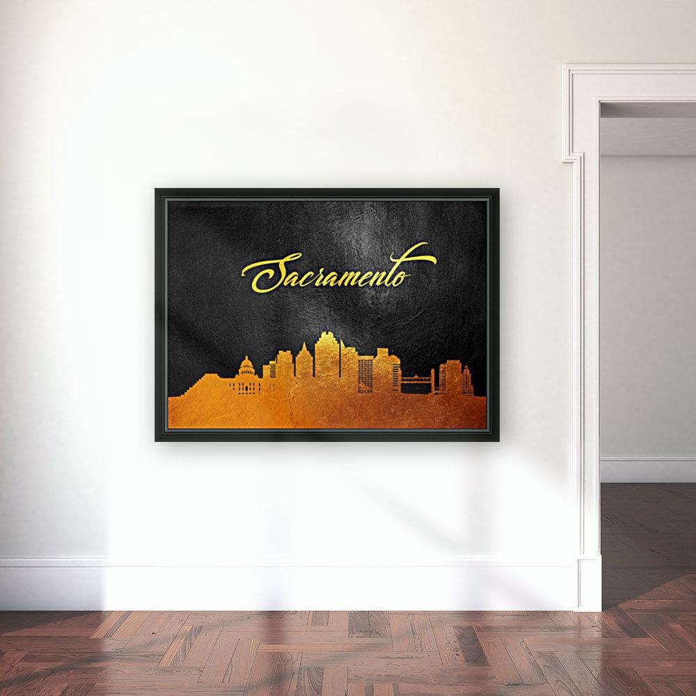Sacramento California Skyline Wall Art  Art