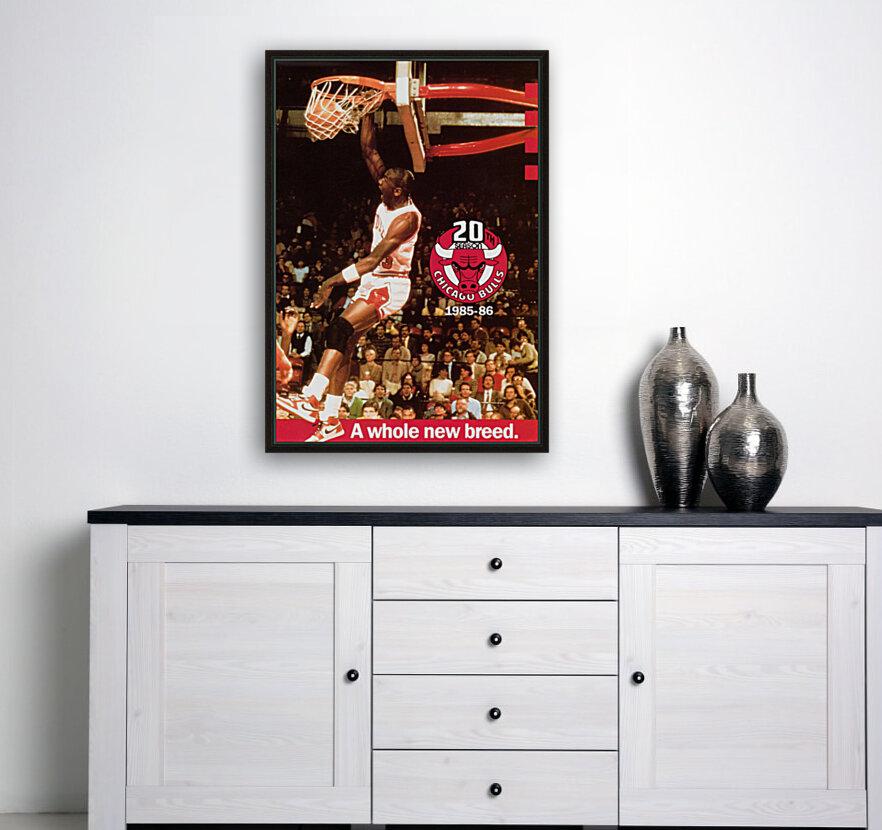 1985 Michael Jordan Dunk Poster Bulls 20th Anniversary  Art
