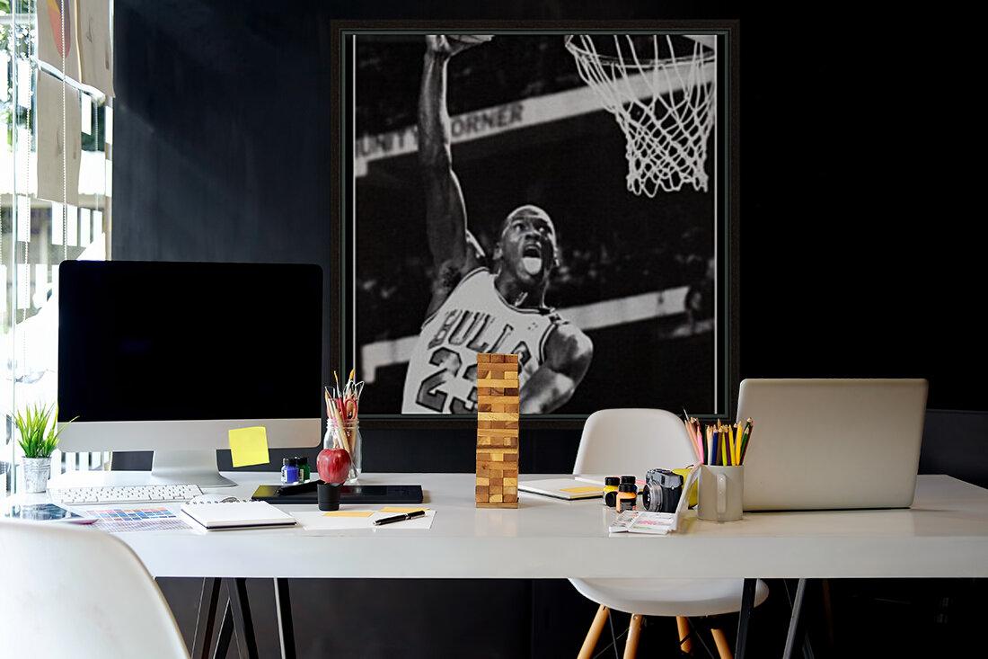 Michael Jordan Black White Poster  Art