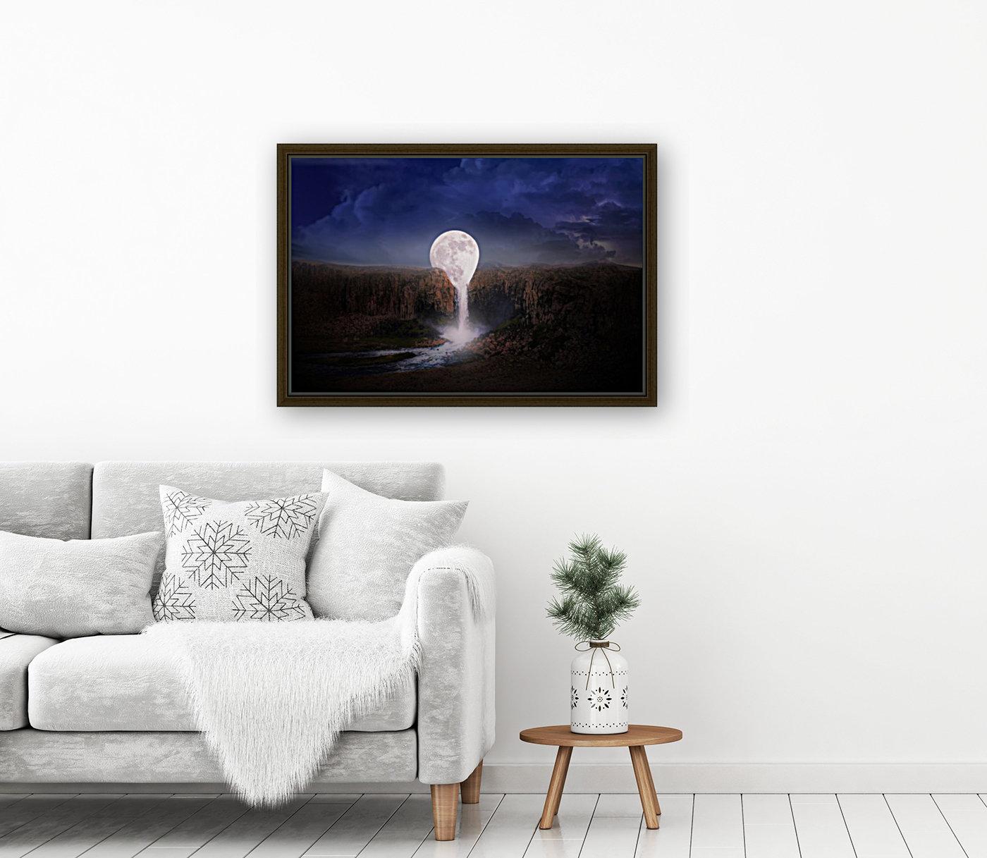 moon landscape night fantasy  Art