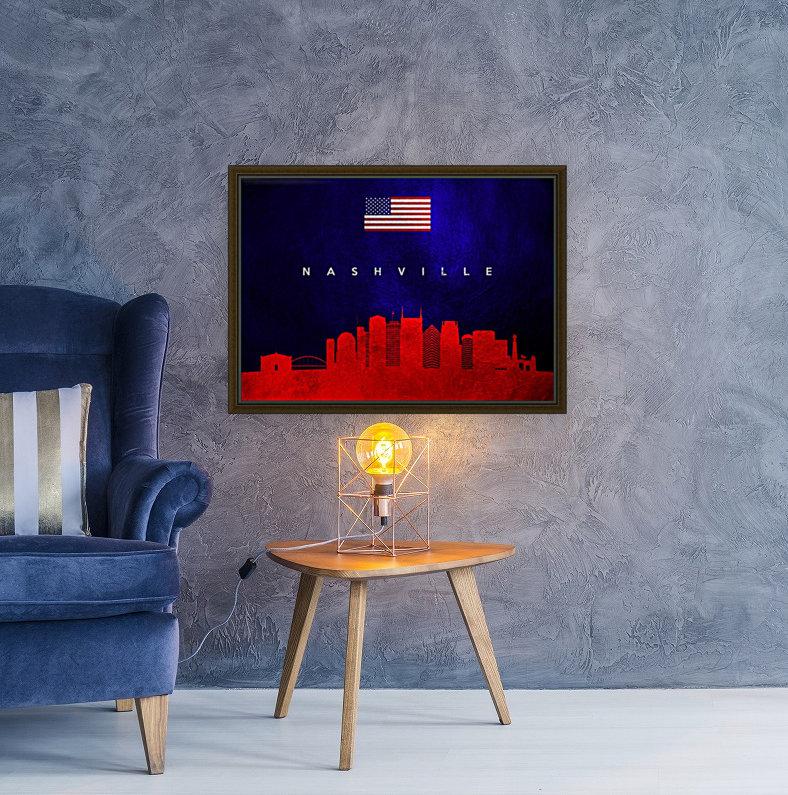 Nashville Tennessee Skyline Wall Art  Art