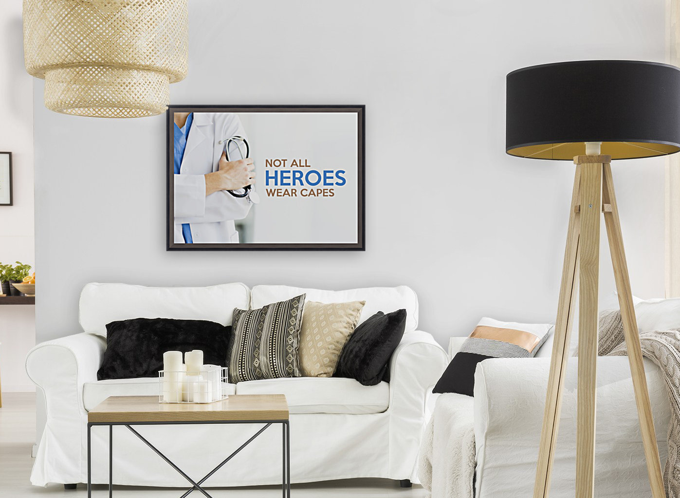 Not All Heroes Wear Capes Motivational Wall Art  Art