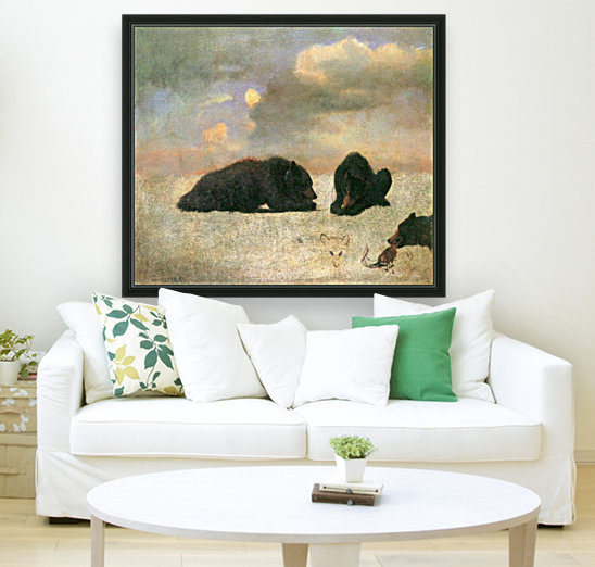 Grizzly Bears by Bierstadt  Art