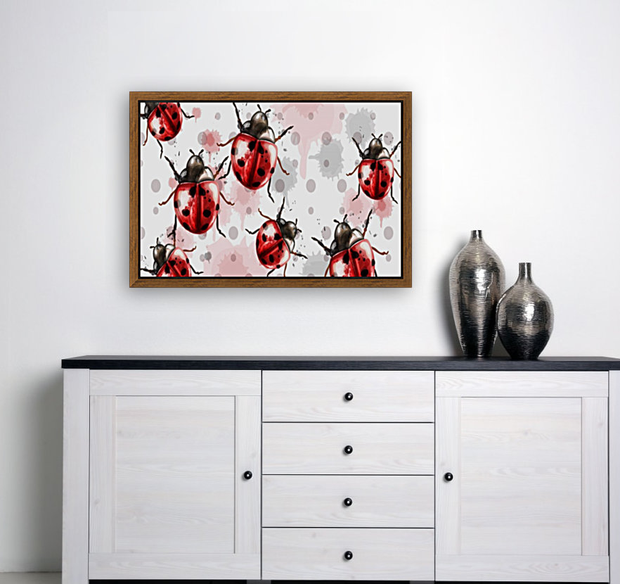 ladybugs pattern texture watercolor_  Art