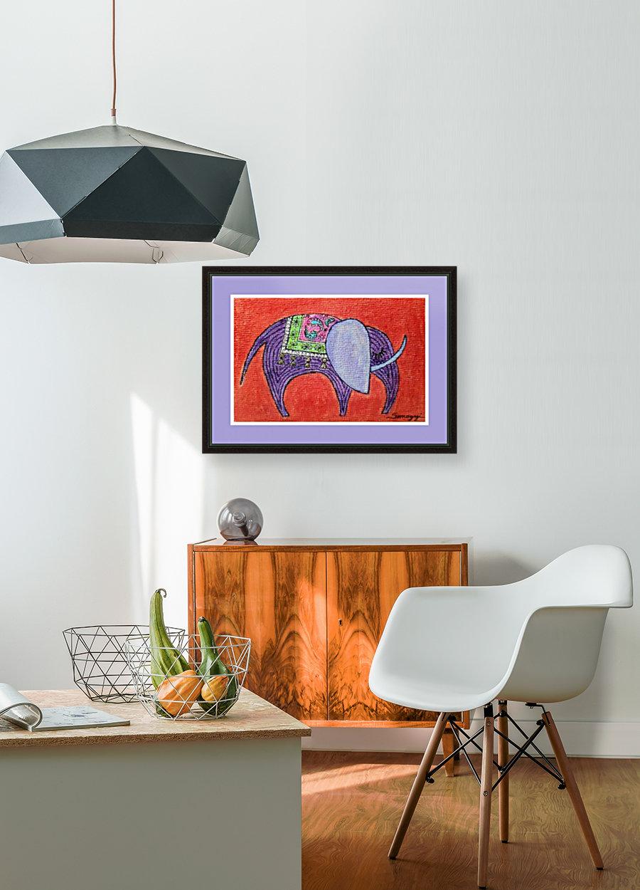 Pretty Pachyderm in frame  Art