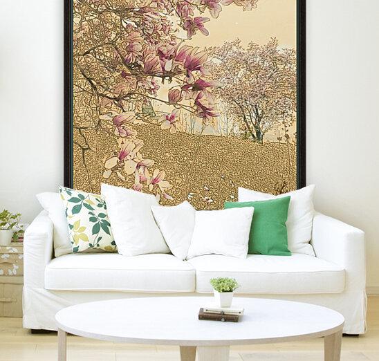 PInk Magnolia Tree  Art