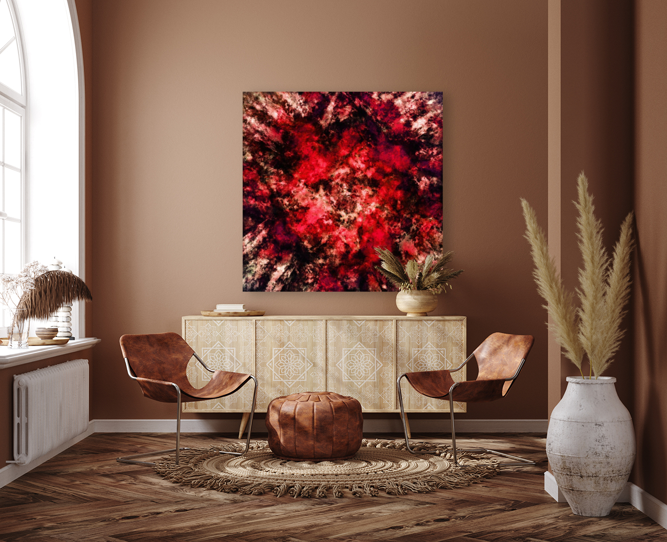 Red burst  Art