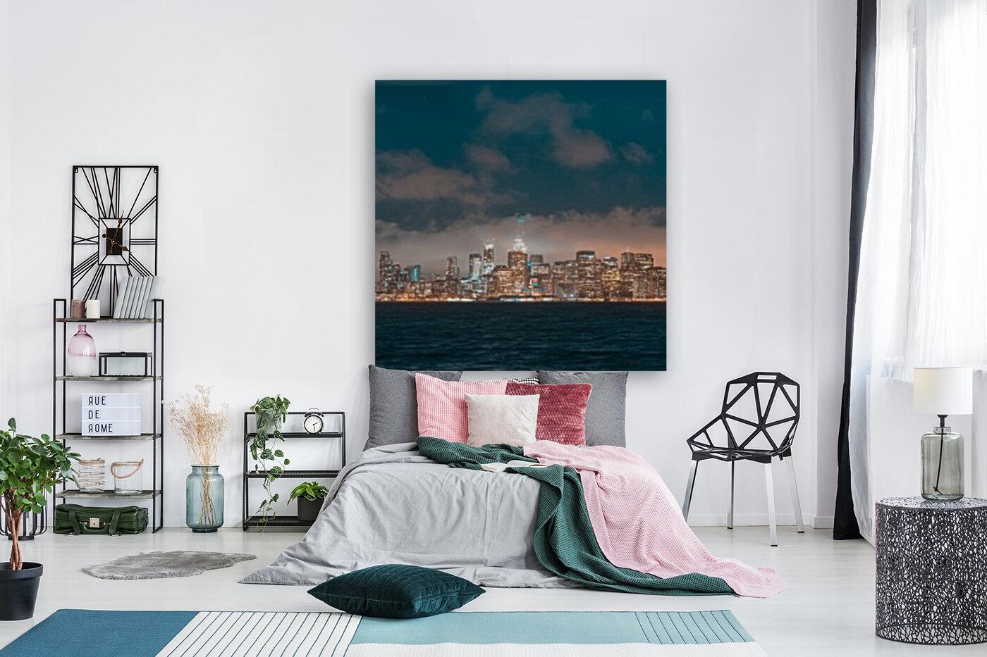 Cloudy San Francisco Night Skyline  Art