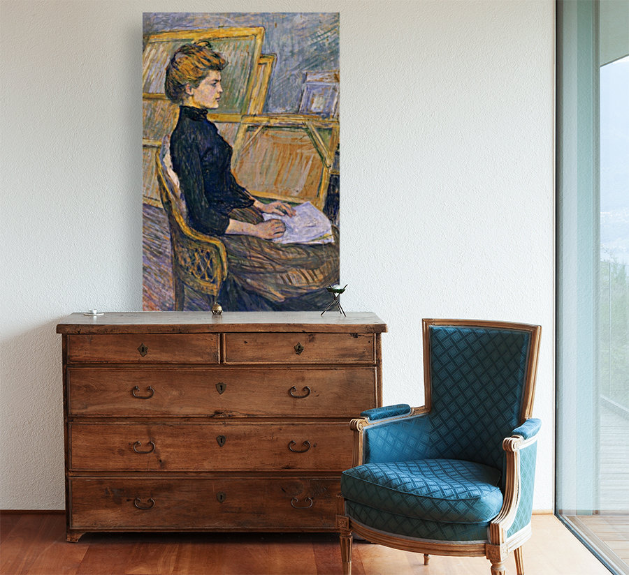 helene vary in the study by toulouse lautrec toulouse lautrec toile. Black Bedroom Furniture Sets. Home Design Ideas