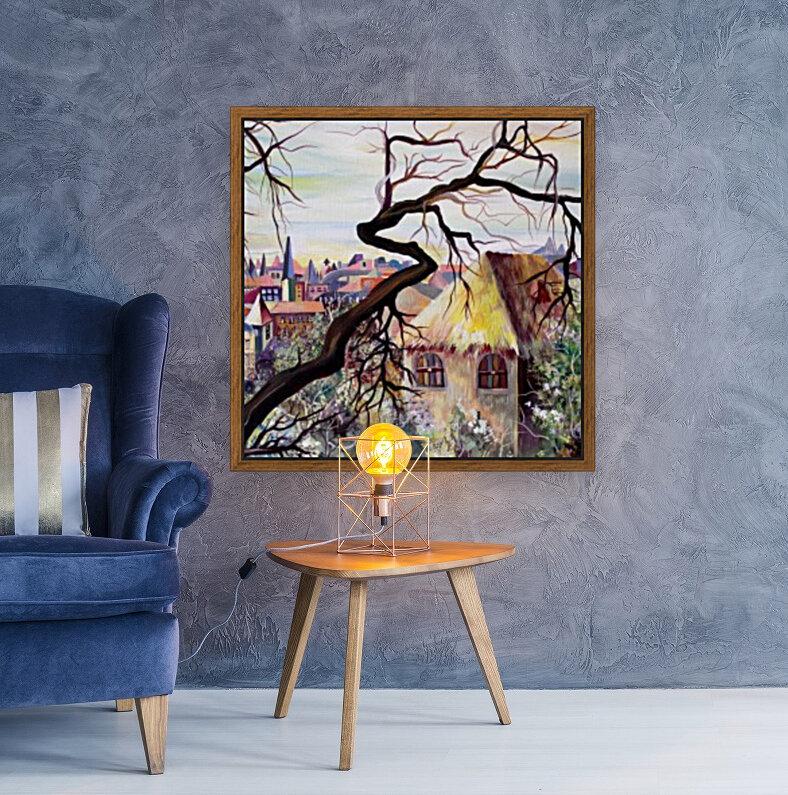 French Provenance Bohemian View  Art